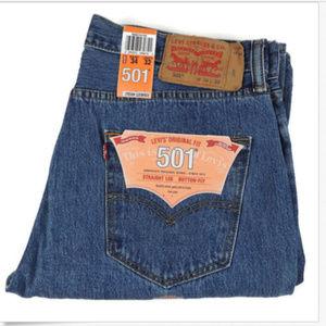 Levi's 501 Original Button Fly Jeans 34 X 32